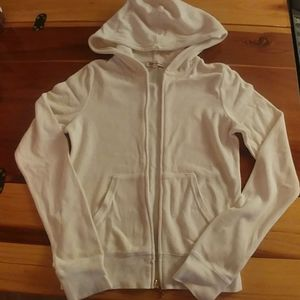 Juicy Couture hooded track jacket Ivory